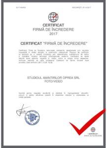 Firma de incredere 217x300 - Acasa - Studioul Amintirilor Fotofraf Valcea Danicei